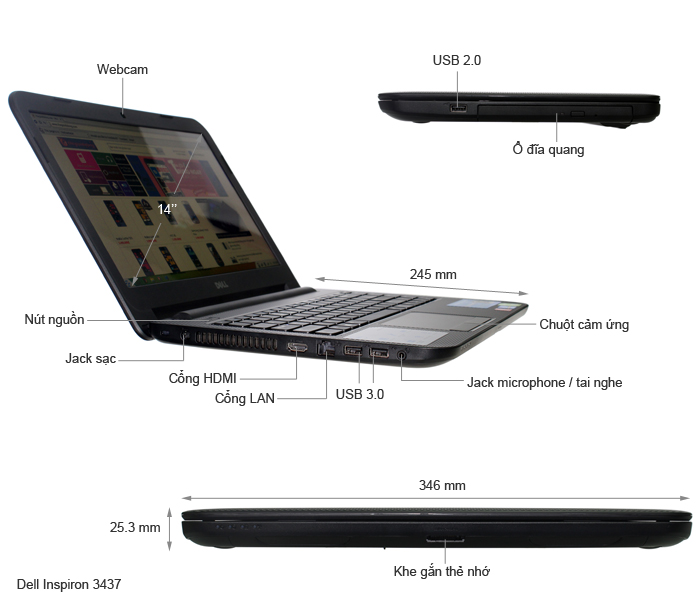 Laptop-Dell-Inspiron-3437-core-i5